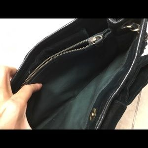 Moschino Bags - Moschino cheap&chic deep green velvet quilted bag